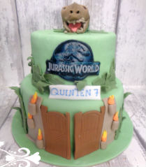 chocolade dinosaurus taart